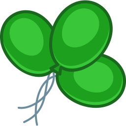 Balloons Green Sticker