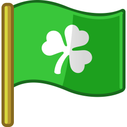 Flag St Patrick Sticker