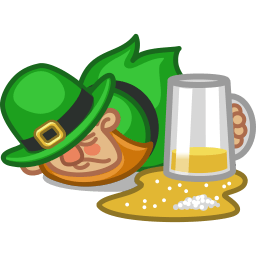 Leprechaun Drunk Sticker