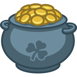 Pot Of Gold Sticker