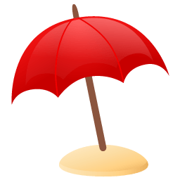 Sun Umbrella Sticker