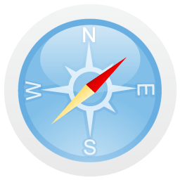 Compass Sticker