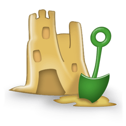 Sand Castle Sticker