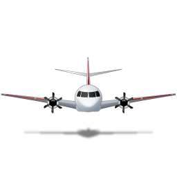 Airplane Front Red Sticker