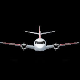 Airplane Front Red Sticker