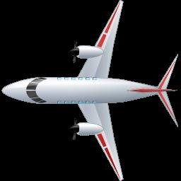 Airplane Top Red Sticker