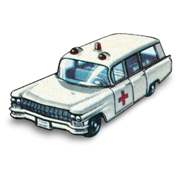 Cadillac Ambulance Sticker