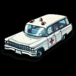 Cadillac Ambulance Sticker