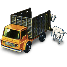 Cattle Truck With Cattle Sticker