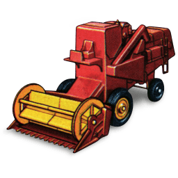 Combine Harvester Sticker