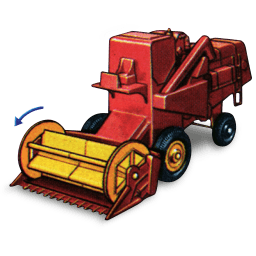 Combine Harvester With Movement Sticker