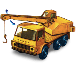 Dodge Crane Truck With Movement Sticker