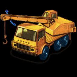 Dodge Crane Truck With Movement Sticker