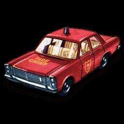 Fire Chief Car Sticker