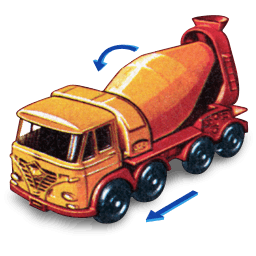 Foden Concrete Truck With Movement Sticker