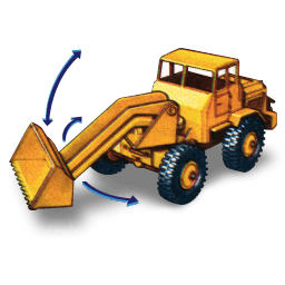 Hatra Tractor Shovel With Movement Sticker