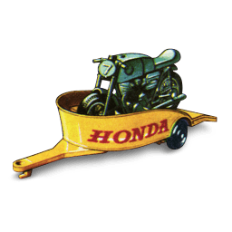 Honda Motorcycle With Trailer Sticker