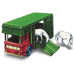 Horse Box With Two Horses Sticker