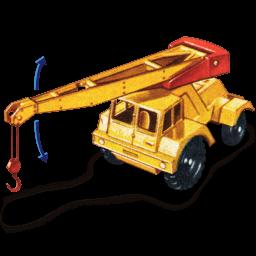 Jumbo Crane With Movement Sticker