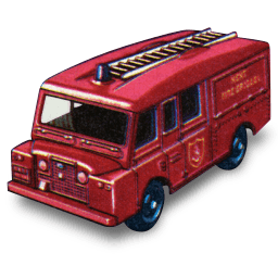 Land Rover Fire Truck Sticker