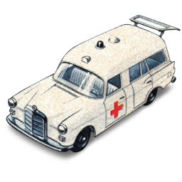 Mercedes Benz Ambulance With Open Boot Sticker