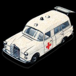 Mercedes Benz Ambulance With Open Boot Sticker