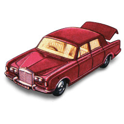 Rolls Royce Silver Shadow With Open Boot Sticker