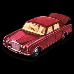 Rolls Royce Silver Shadow With Open Boot Sticker