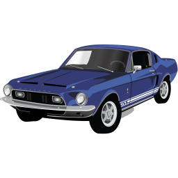 Muscle Car Mustang Gt Sticker