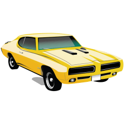 Muscle Car Pontiac Gto Sticker