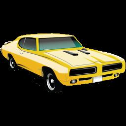 Muscle Car Pontiac Gto Sticker