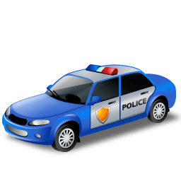 Policecar Sticker