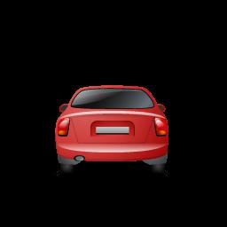 Car Back Red Sticker