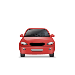 Car Front Red Sticker