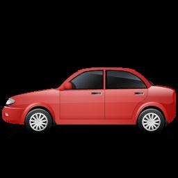 Car Left Red Sticker