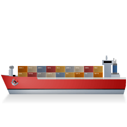 Container Ship Left Red Sticker