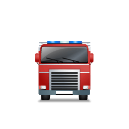 Fire Truck Front Red Sticker