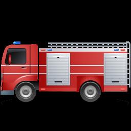 Fire Truck Left Red Sticker