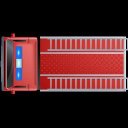 Fire Truck Top Red Sticker