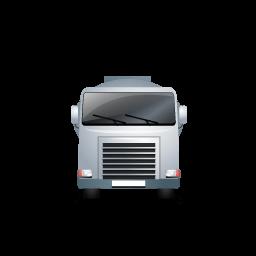 Fueltank Truck Front Grey Sticker