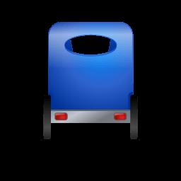 Pedicab Back Blue Sticker