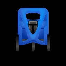 Pedicab Front Blue Sticker