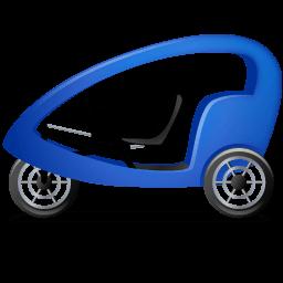 Pedicab Left Blue Sticker