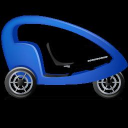 Pedicab Right Blue Sticker