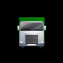 Truck Front Green Sticker