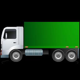 Truck Left Green Sticker