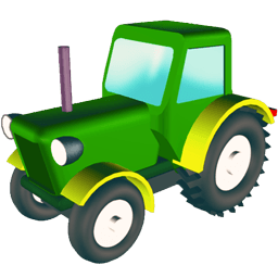 Wheeled Tractor Sticker