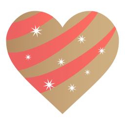 Golden Heart Sticker