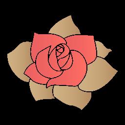 Rose Flower Sticker