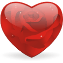 Rosy Heart Sticker